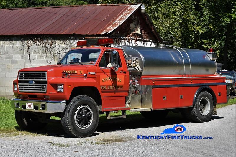 Kings Creek  Tanker 1<br /> x-Bunner Ridge, WV<br /> 1987 Ford F-800 500/2000<br /> Greg Stapleton photo