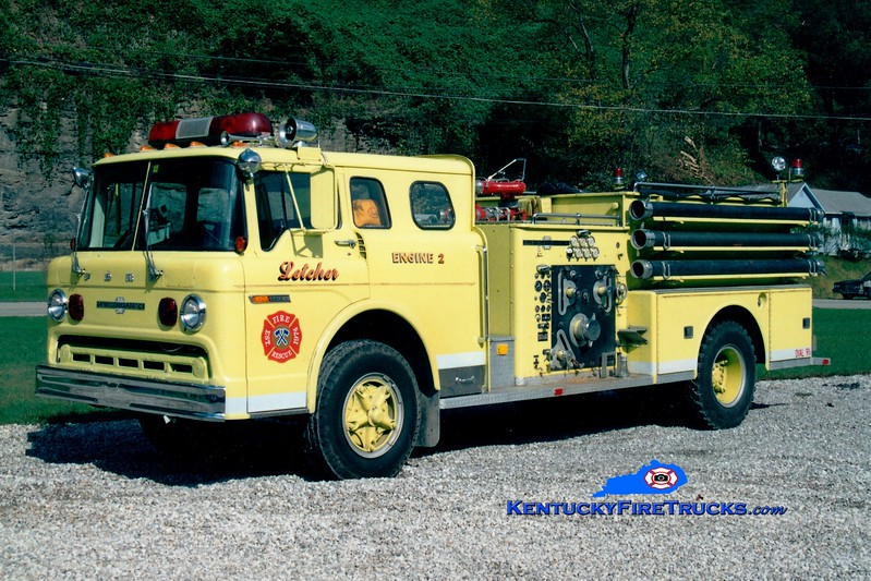 <center> RETIRED <br> Letcher  Engine 2 <br> x-Bucksport, ME <br> 1980 Ford C/American LaFrance 1000/750 <br> Greg Stapleton photo <br> </center>