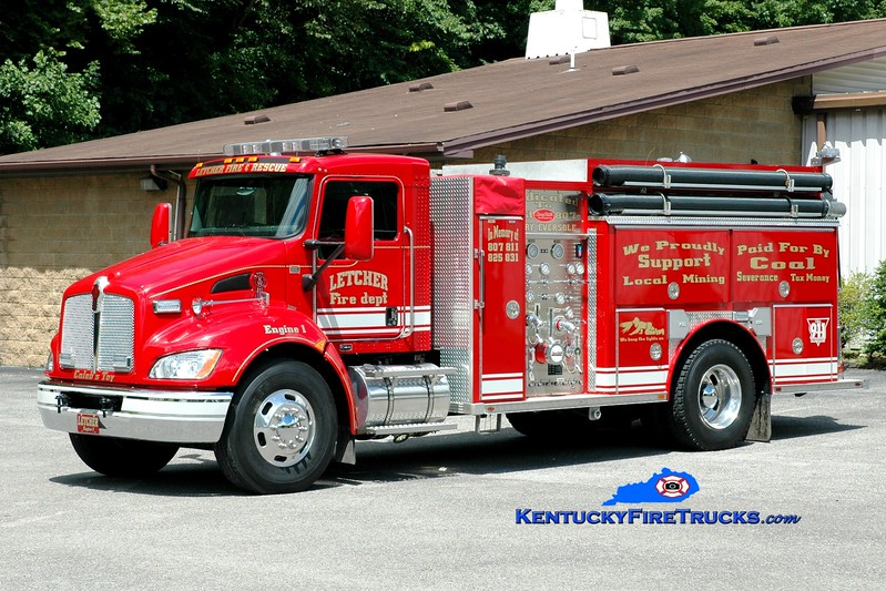 <center> Letcher  Engine 1 <br> 2011 Kenworth T-300/Deep South 1250/1000 <br> Greg Stapleton photo <br> </center>