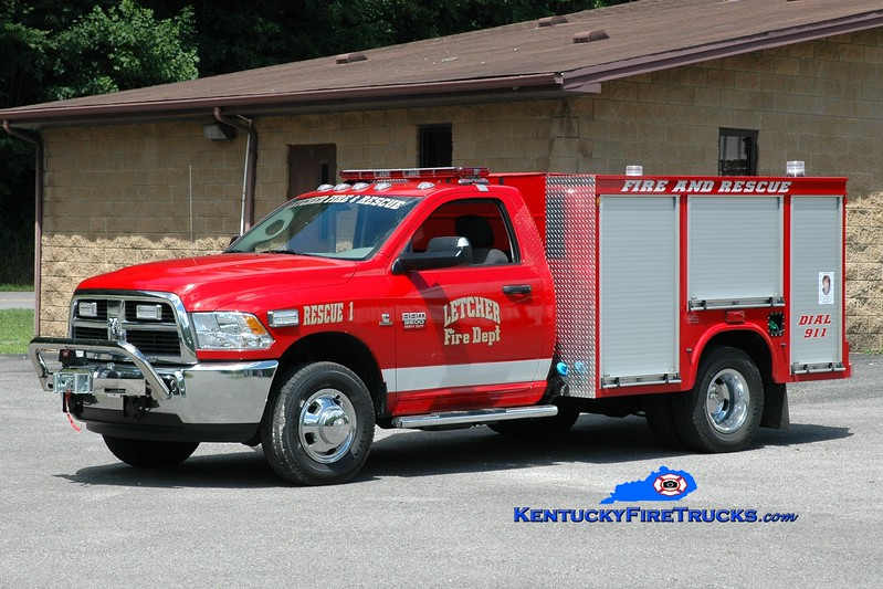 <center> Letcher  Rescue 1 <br> 2013 Dodge 3500 4x4/Knapheide  <br> Greg Stapleton photo <br> </center>