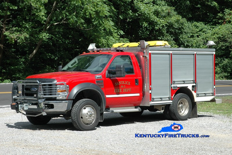 <center> Sandlick  Rescue 3 <br> 2007 Ford F-550 4x4/Polybilt/Wynn 250/250 <br> Greg Stapleton photo <br> </center>