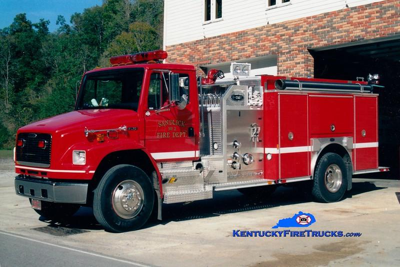 <center> Sandlick  Engine 2 <br> 2002 Freightliner FL80/E-One 1250/1000 <br> Greg Stapleton photo <br> </center>