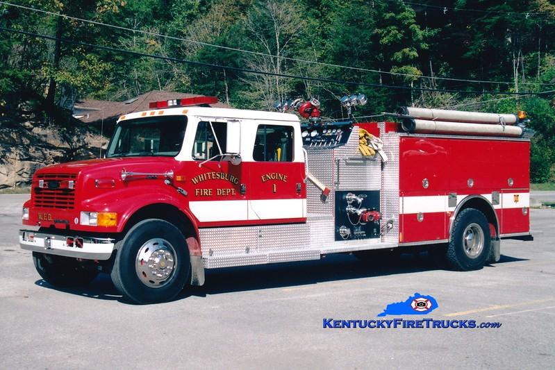 <center> Whitesburg  Engine 1 <br> 1996 International 4900/Pierce 1250/1000 <br> Greg Stapleton photo </center>