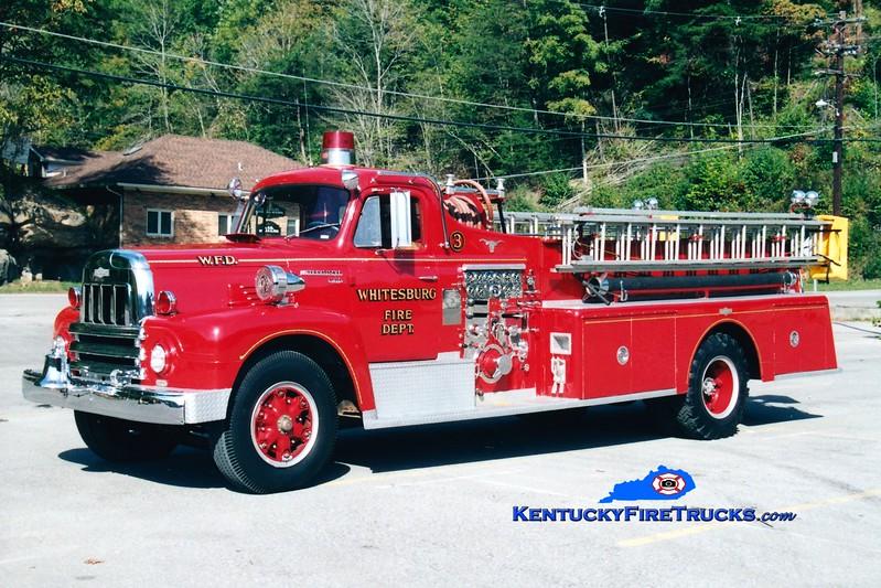 <center> Whitesburg  Engine 3 <br> 1963 International R190/Pirsch 750/500 <br> Greg Stapleton photo </center>