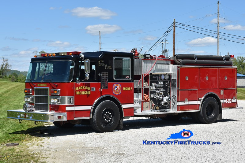 Black Oak  Engine 2<br /> x-Scott County and Olive Hill, KY<br /> 1991 Pierce Dash 1500/1000<br /> Greg Stapleton photo