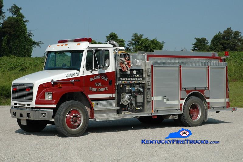 <center> Black Oak  Engine 2 <br> 2001 Freightliner FL80/Central States 1250/1000 <br> Greg Stapleton photo </center>