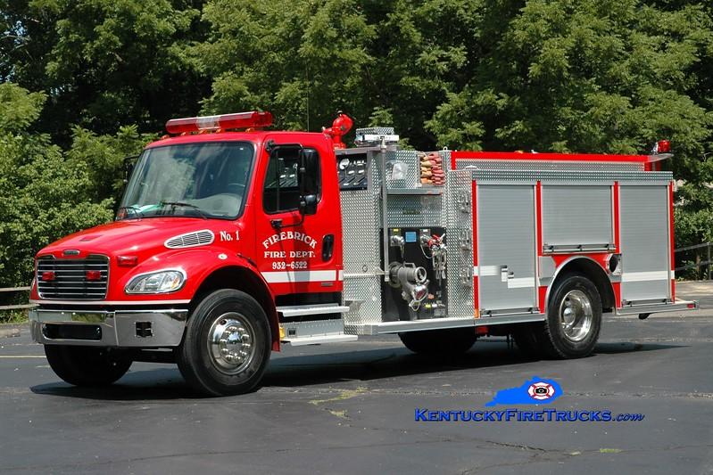 <center> Firebrick  Engine 1 <br> 2002 Freightliner M2/Rosenbauer-Central 1250/1000 <br> Greg Stapleton photo </center>