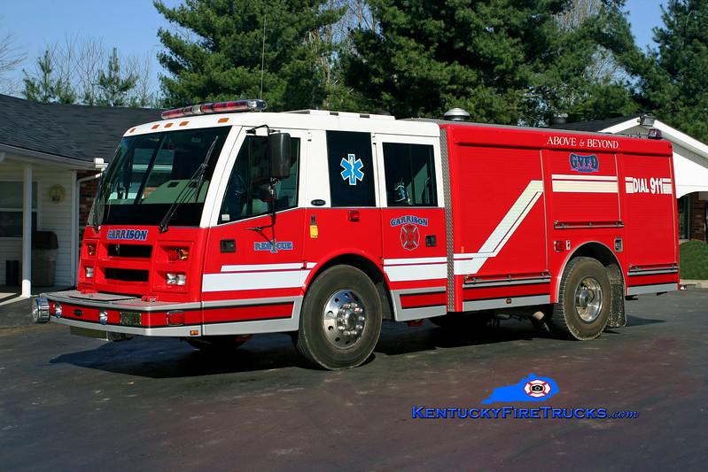<center> Garrison  Rescue 1 <br> x- East Lake, FL  <br> 1999 E-One Daytona 1500/500/30 <br> Kent Parrish photo </center>