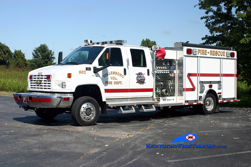 <center> Tollesboro  Engine 802 <br> 2009 Chevy C5500 4x4/Summit 750/300/CAFS-30 <br> Kent Parrish photo </center>