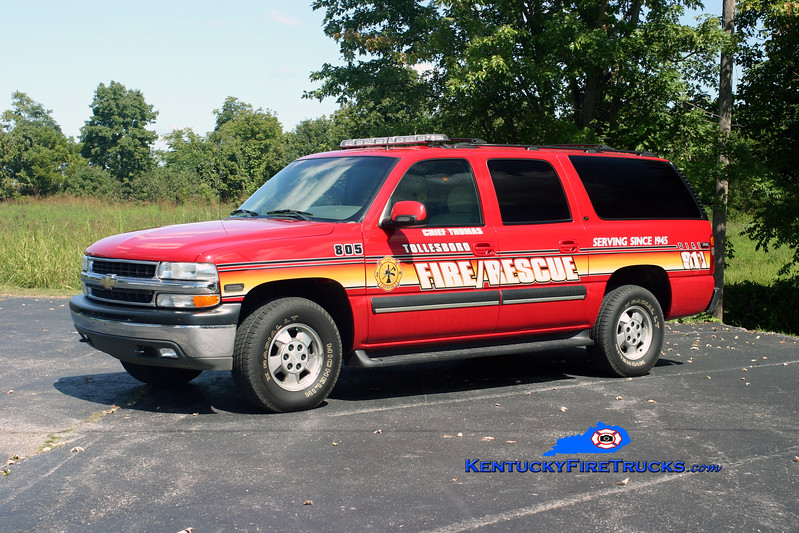<center> Tollesboro  Command/Squad 805 <br> 2002 Chevy Suburban 4x4 <br> Kent Parrish photo </center>