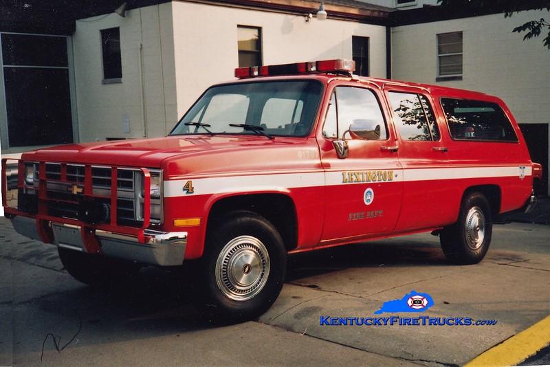 Lexington Cars 202, 204, and 205<br /> 1987 Chevy Suburban 4x4<br /> Greg Stapleton photo