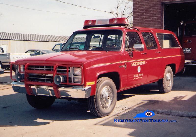 Lexington Cars 202 and 204<br /> 1984 Chevy Suburban 4x4<br /> Greg Stapleton collection