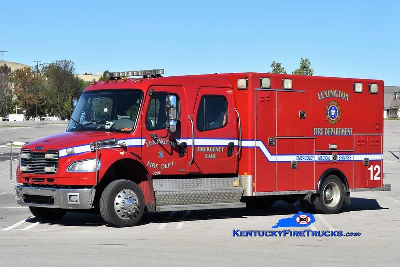 RESERVE<br /> Lexington  Emergency Care 12<br /> x-Emergency Care 6 <br /> 2009 Freightliner M2-106/Excellance<br /> Greg Stapleton photo