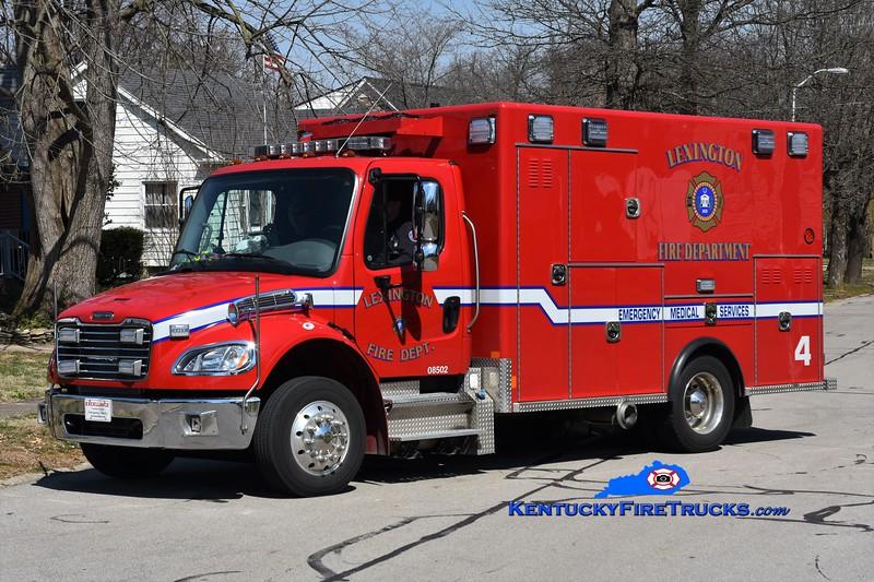 Lexington Emergency Care 4<br /> 2018 Freightliner M2-106/2014 Excellance<br /> Greg Stapleton photo