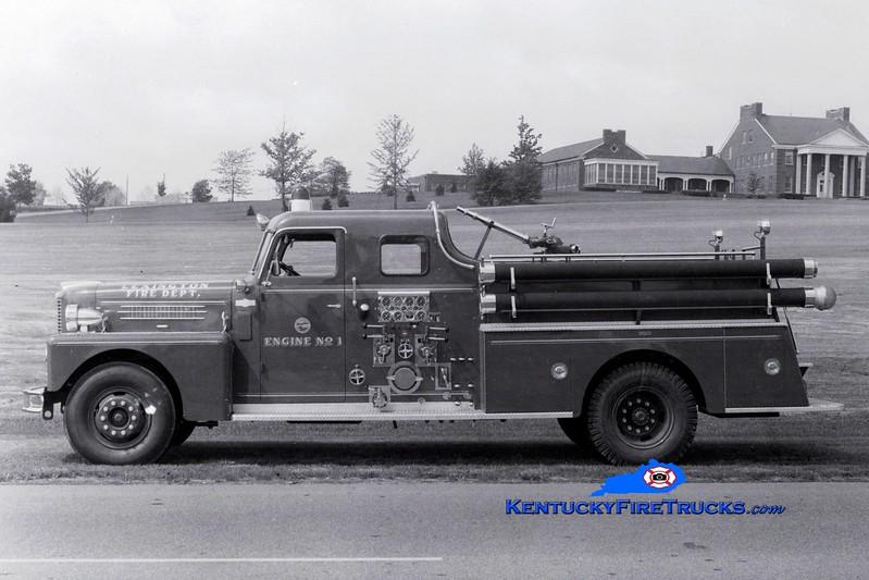<center> RETIRED <br> Lexington  Engine 1 <br> 1962 Pirsch 1000/200 <br> Greg Stapleton collection </center>