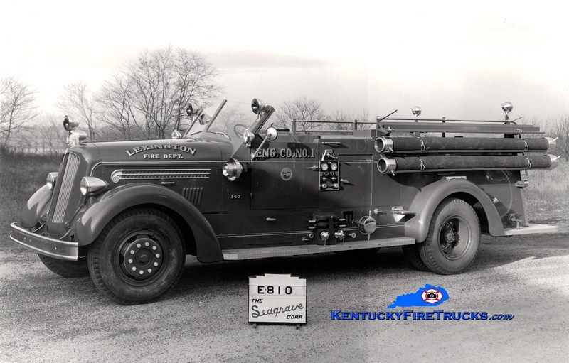 <center> Lexington  Engine 1 <br> *Delivery photo <br> 1948 Seagrave 1000/150 <br> Greg Stapleton collection </center>