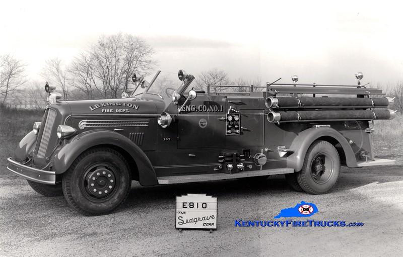 <center> Lexington  Engine 1 <br> *Delivery photo <br> 1948 Seagrave 1000/150 <br> Greg Stapleton collection </center>