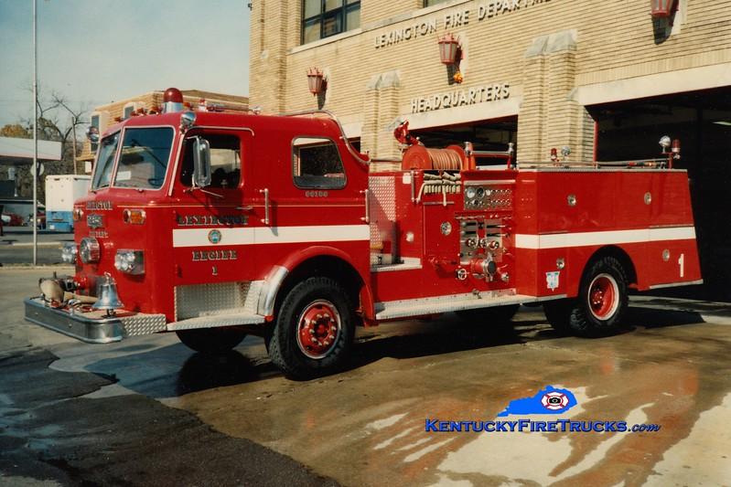<center> RETIRED <br> Lexington  Engine 1 <br> 1976 Pirsch/1985 LFD 1250/500 <br> Greg Stapleton photo </center>