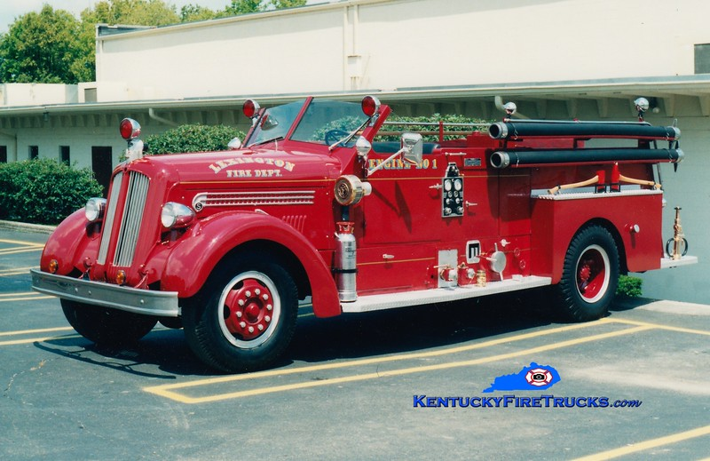 <center> *Privately owned  <br> Lexington  Engine 1 <br> 1948 Seagrave/1991 Local 1000/150 <br> Greg Stapleton collection </center>