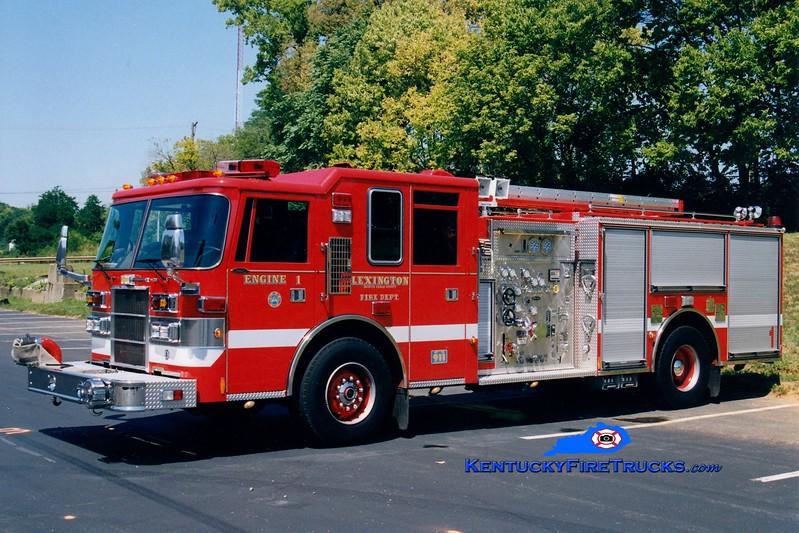 <center> Lexington  Engine 1 <br> 1998 Pierce Dash 1250/750 <br> Greg Stapleton photo </center>