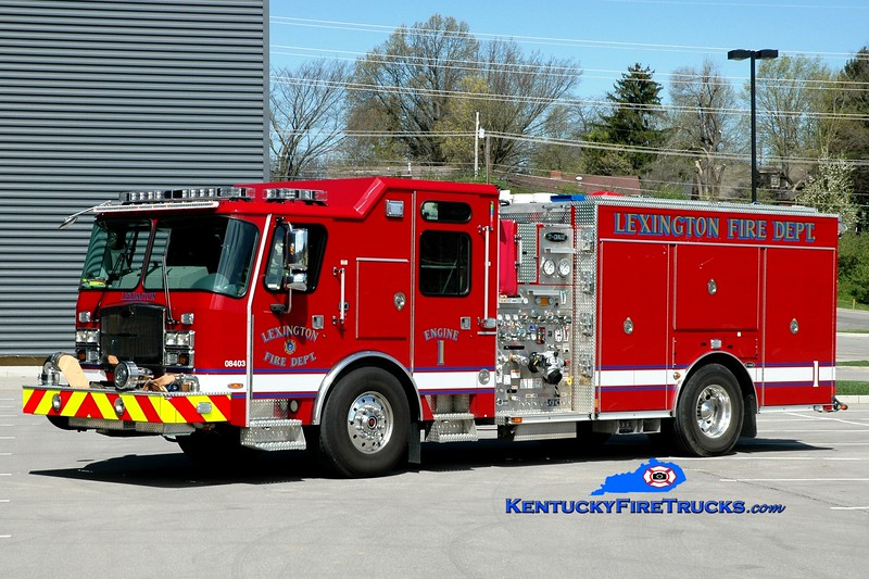 <center> Lexington  Engine 1 <br> 2015 E-One Typhoon 1500/980/20/30 <br> Greg Stapleton photo </center>