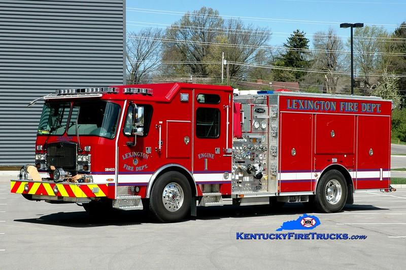 <center> Lexington  Engine 1 <br> 2015 E-One Typhoon 1500/980/20/30 <br> Greg Stapleton photo </center>