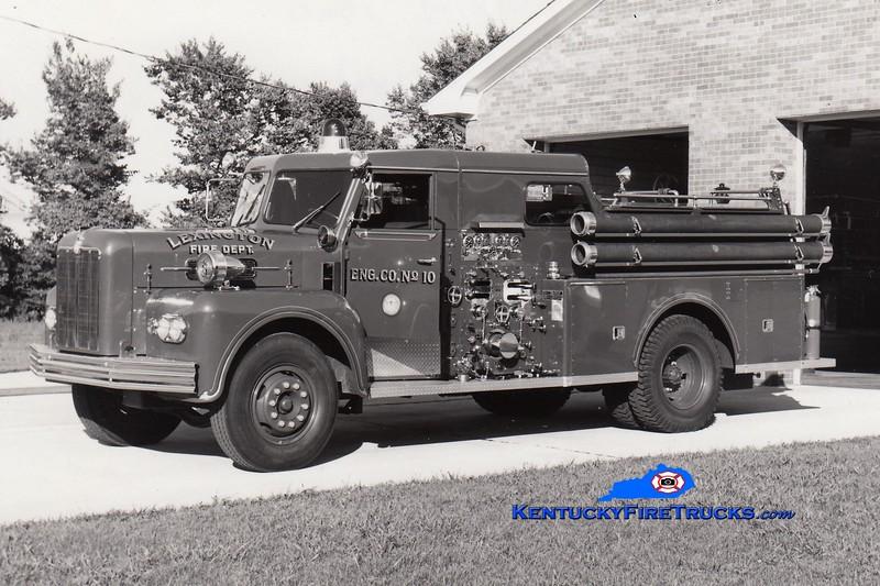 <center> RETIRED <br> Lexington, KY  Engine 10 <br> 1965 Maxim 1000/200 <br> Greg Stapleton collection  </center>