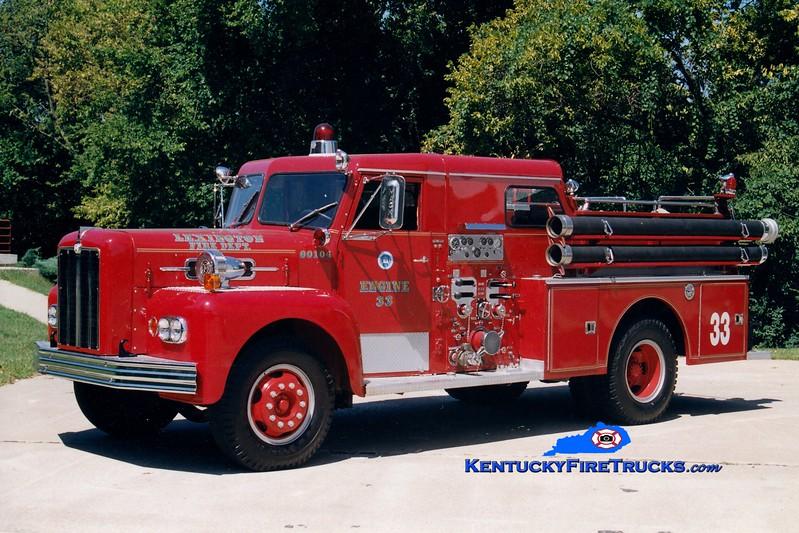 <center> RETIRED <br> Lexington, KY  Engine 11 <br> *As Reserve Engine 33 <br> 1965 Maxim S 1000/200 <br> Greg Stapleton photo </center>