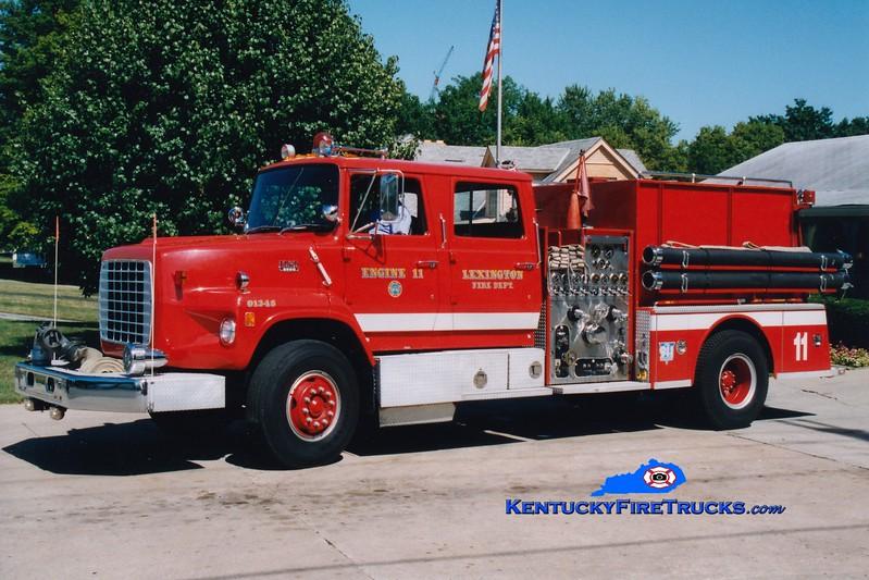 <center> RETIRED <br> Lexington, KY  Engine 11 <br> 1983 Ford LS/American LaFrance 1250/1000 <br> Greg Stapleton photo </center>