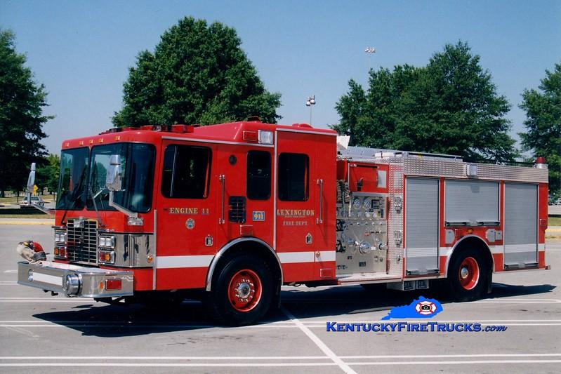 <center> Lexington  Reserve Engine  <br> x-Engine 11 <br> 1999 HME/Smeal 1250/1000 <br> Greg Stapleton photo </center>