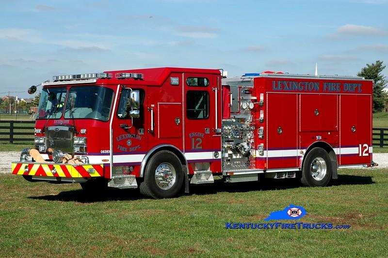 <center> Lexington, KY  Engine 12 <br> 2014 E-One Typhoon 1500/980/20/30 <br> Greg Stapleton photo </center>