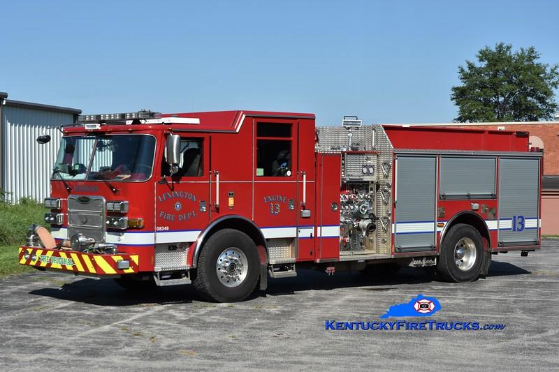 Lexington, KY Engine 13<br /> 2011 Pierce Arrow XT 1500/1000/25<br /> Greg Stapleton photo