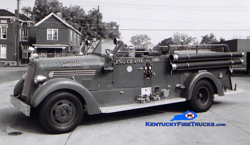 <center> RETIRED <br> Lexington, KY  Engine 14 <br> x-Engine 1 <br> 1948 Seagrave 1000/150  <br> Greg Stapleton collection  </center>
