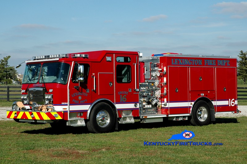 <center> Lexington, KY  Engine 16 <br> 2014 E-One Typhoon 1500/980/20/30 <br> Greg Stapleton photo </center>