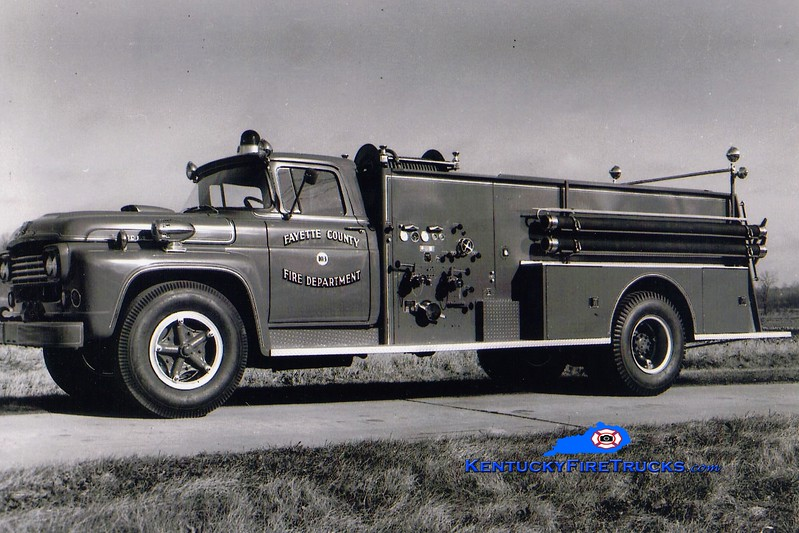 <center> Lexington  Engine 17 <br> x-Fayette County FD, KY <br> 1960 Ford F/Boyer 750/1000 <br> Greg Stapleton collection  </center>