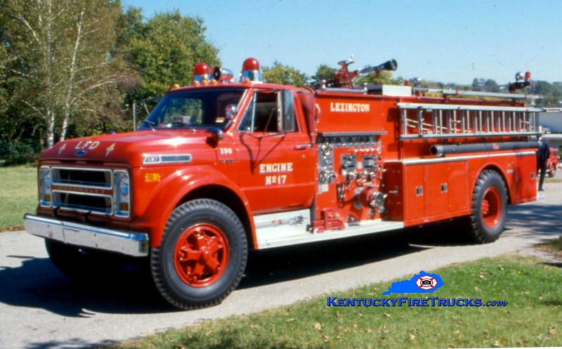 <center> RETIRED <br> Lexington  Engine 17 <br> x-Fayette County FD, KY; Engine 12 <br> 1973 Chevy/Ward LaFrance 1000/1000 <br> Greg Stapleton collection </center>
