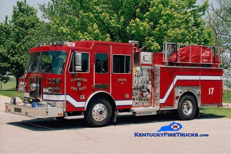 <center> Lexington  Engine 17 <br> 2005 Sutphen 1500/1000/50 <br> Greg Stapleton photo </center>