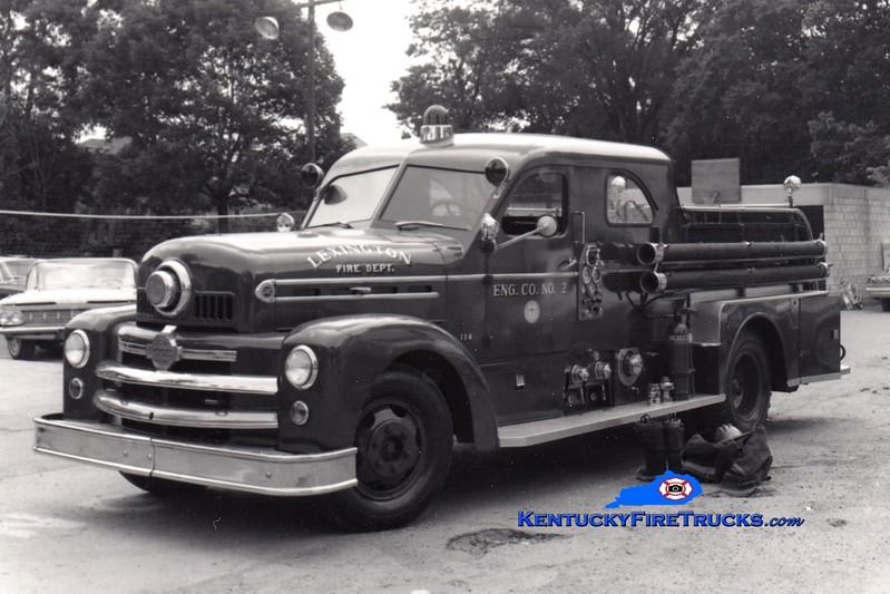<center> RETIRED <br> Lexington  Engine 2 <br> 1953 Seagrave 750/200 <br> Greg Stapleton collection </center>