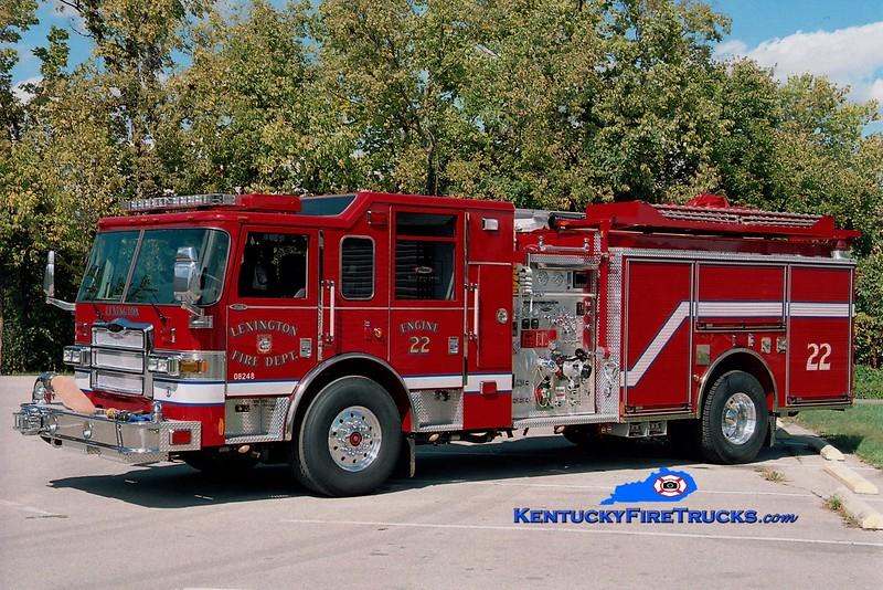 <center> Lexington  Engine 22 <br> 2006 Pierce Dash 1500/1000/50 <br> Greg Stapleton photo </center>