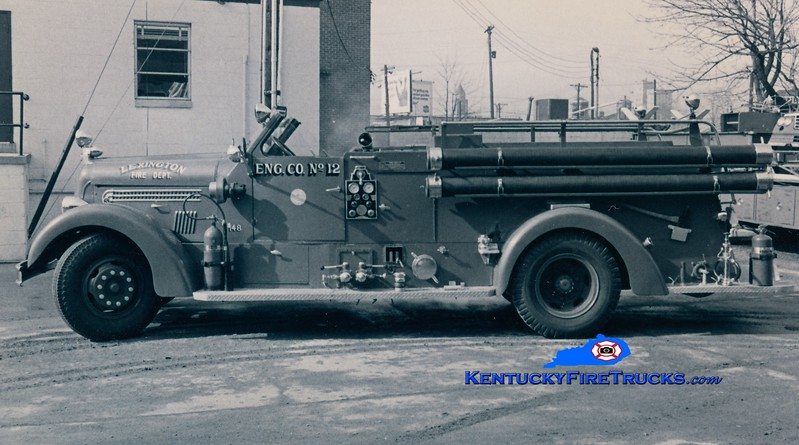 <center> RETIRED <br> Lexington  Engine 4 <br> *Lettered as Reserve Engine 12 <br> 1948 Seagrave 1000/150 <br> Greg Stapleton collection </center>