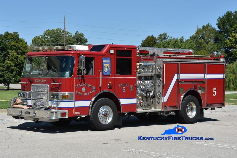 Lexington Engine 5<br /> 2004 Pierce Enforcer 1500/700/20/30<br /> Greg Stapleton photo