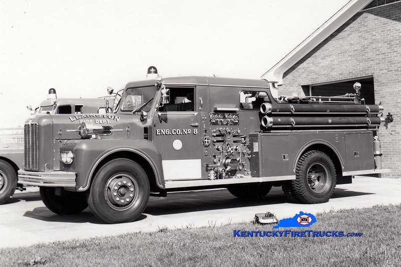 <center> RETIRED <br> Lexington, KY  Engine 8 <br> 1965 Maxim 1000/200  <br> Greg Stapleton collection </center>