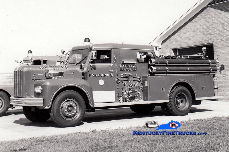 <center> RETIRED <br> Lexington, KY  Engine 8 <br> 1965 Maxim 1000/200  <br> Greg Stapleton collection </center>