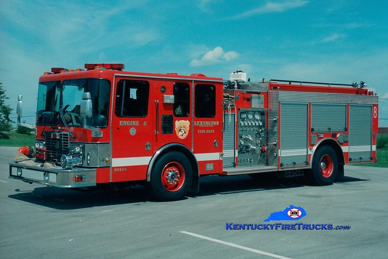 <center> *Reserve Engine 31 <br> Lexington, KY  Engine 8 <br> 1997 HME/Smeal 1250/750 <br> Greg Stapleton photo </center>