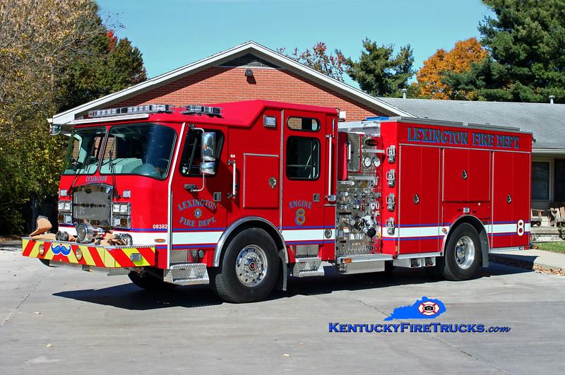 Lexington  Engine 8<br /> 2014 E-One Typhoon 1500/980/20/30<br /> Kent Parrish photo