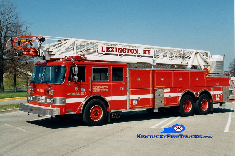 <center> *Reserve Ladder 17 <br> Lexington  Aerial 2 <br> 1990 Pierce Arrow 105'  <br> Greg Stapleton photo </center>
