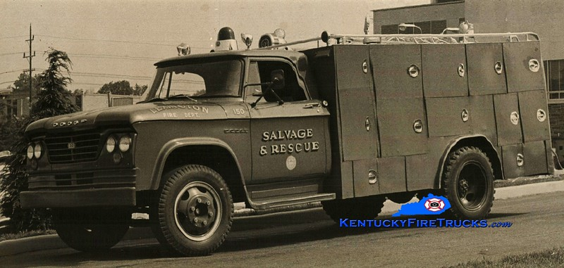 <center> RETIRED <br> Lexington  Rescue & Salvage Truck <br> 1963 Dodge/LFD <br> Greg Stapleton photo </center>
