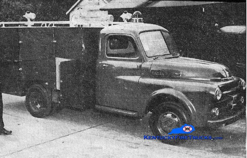 <center> RETIRED <br> Lexington  First Aid & Rescue Truck <br> 1953 Dodge/LFD <br> Greg Stapleton photo </center>