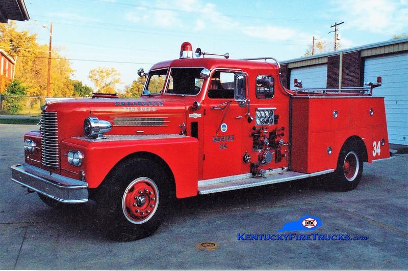 RETIRED<br /> Lexington Reserve Engine 34<br /> x-Engine 14 <br /> 1962 Pirsch 1000/200<br /> Greg Stapleton photo