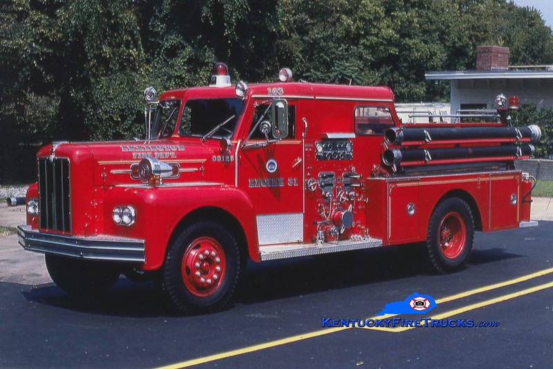 RETIRED<br /> Lexington Reserve Engine 31<br /> x-Engine 8 <br /> 1965 Maxim 1000/200<br /> Greg Stapleton photo